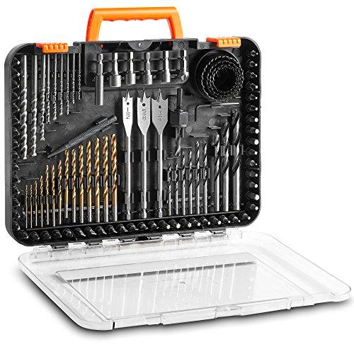 VonHaus 100-Piece Drill and Drive Bit Set with Titanium Coated HSS Bits