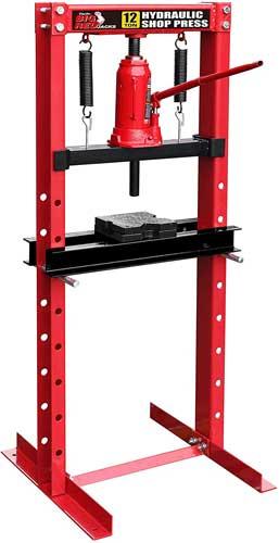 Big Red T51201 Torin Steel H-Frame Hydraulic Garage/Shop Floor Press