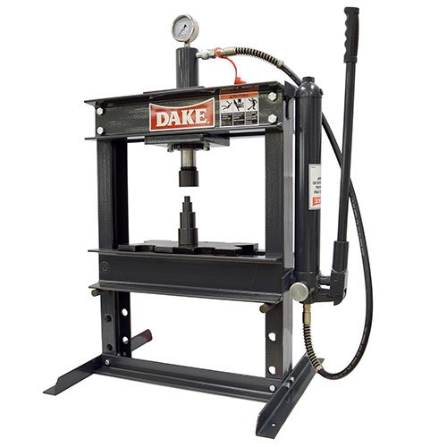 Dake 972200 B-10 Bench 10-Ton Manual H-Frame Press