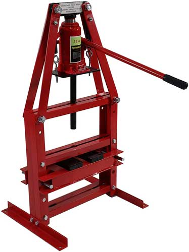 Dragway Tools 12 Ton A-Frame Benchtop Hydraulic Shop Press