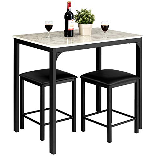 Giantex 3 Pcs Dining Table and Chairs Set