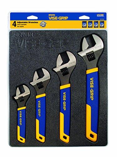 IRWIN VISE-GRIP 4-Piece Adjustable Wrench Set