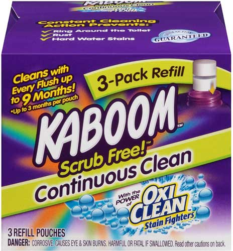 Kaboom Scrub-Free! Continuous Clean with OxiClean