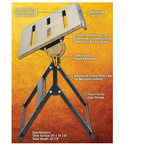 ToolsNMore Adjustable Steel Welding Table