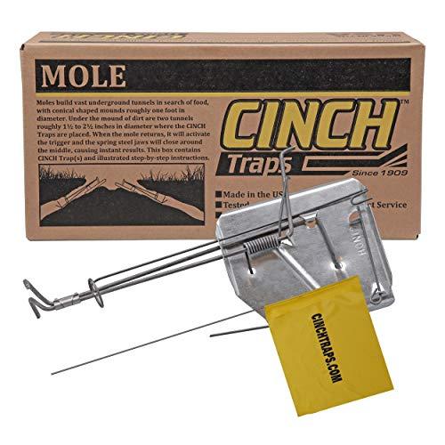 Cinch Mole Trap with Tunnel Marking Flag