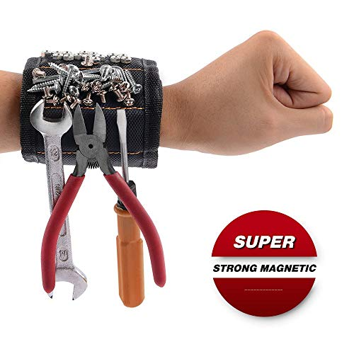 GOOACC GRC-61 1 Pack Wristband with 15 Strong Magnets Screws Nails Drill Bits