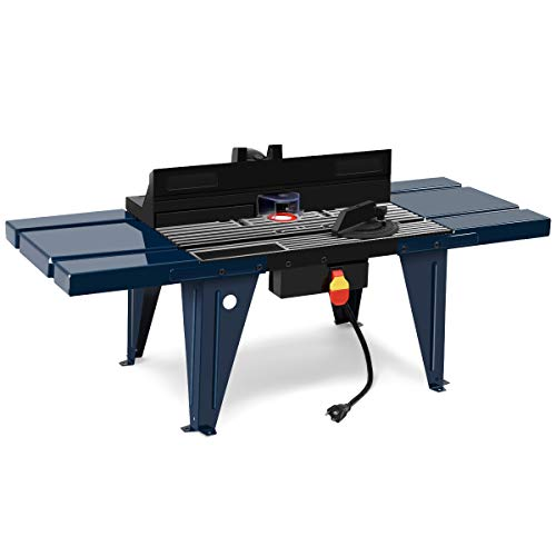 Goplus Aluminum Extension Router Table With Electric Router Lift