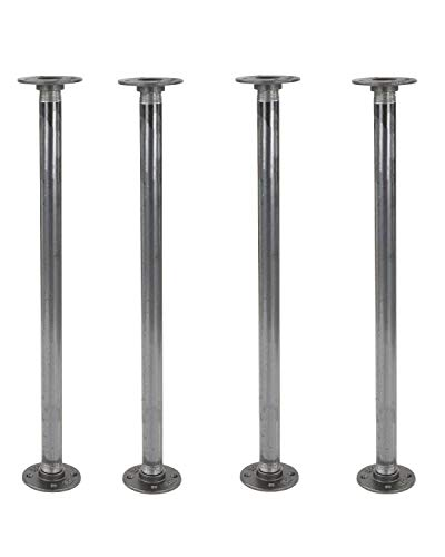 Rustic 30 Inch Industrial Pipe Decor Table Legs