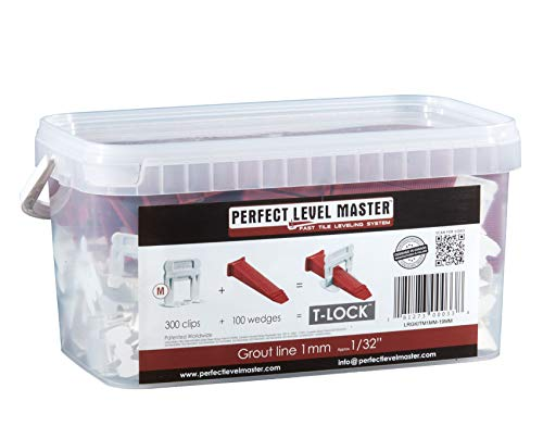 """1/32"""" T-Lock Complete Kit Anti Lippage Tile Leveling System"""