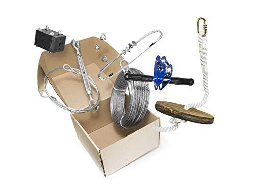 50 Foot Chetco Zip Line Kit with Seat & Carabiner