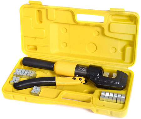 JAXPETY 10 Ton Hydraulic Wire Battery Cable Lug Terminal Crimper Crimping Tool