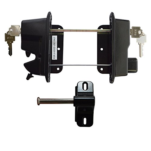 Keystone Black Zinc Diecast Metal Key Lockable Latch