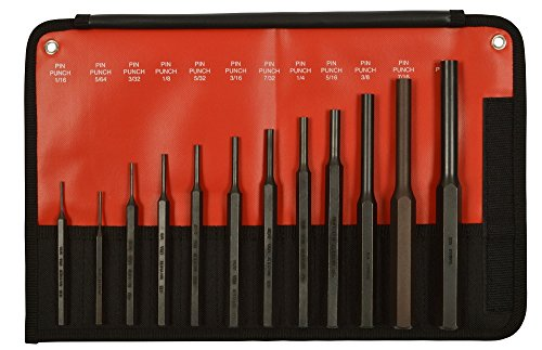 Mayhew Tools 62213 4-Piece Knurled Center Punch Kit
