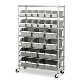 Seville Classics Commercial 7-Tier Bin Rack Storage System