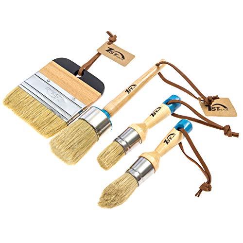 1st Place Chalk & Wax Natural Bristle Brush Set