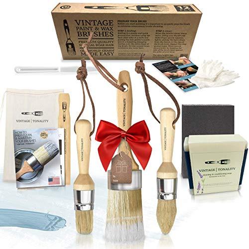 Vintage Tonality Pro Chalk & Wax Paint Brush Set