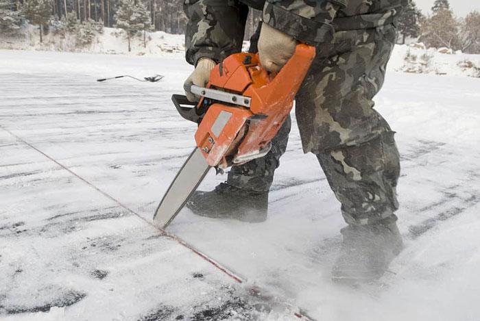 Cutting through Ice