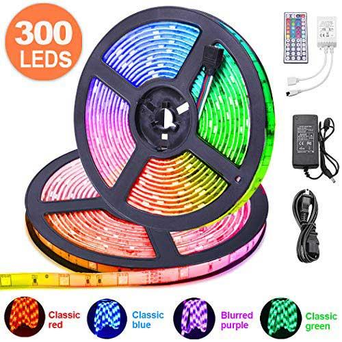 LED Strip Lights 32.8 ft, ESEYE IP65 Waterproof Flexible RGB Tape Lights