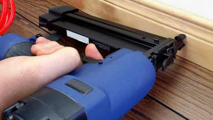 Nail Gun for Plywood Sheathing