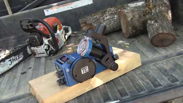 automatic chainsaw sharpener